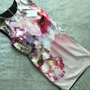 NWT Ted Baker Milisa Pure Peony Floral Shift Dress